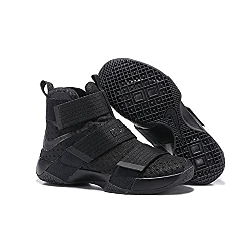 finest selection 12150 afd30 Nike LeBron Soldier 10 Basketball Shoes Black Space 60%OFF