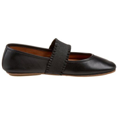 Gentle Souls Gabby Ballet Flat Black Leather VCK7HFIb3X