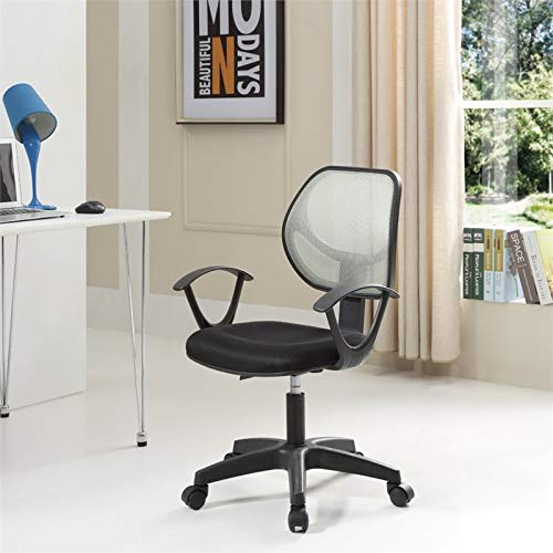 Pemberly Row Adjustable Height Swivel Task Chair in Gray