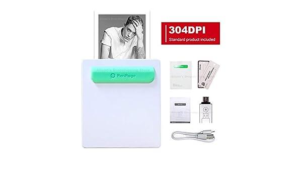 LAY Impresora térmica portátil HD sin Tinta Mini Impresora ...