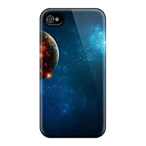 MMZ DIY PHONE CASERugged Skin Case Cover For Iphone 4/4s- Eco-friendly Packaging(planet's Core)