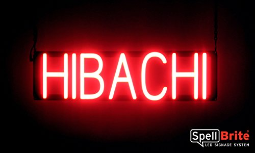 (SpellBrite Ultra-Bright HIBACHI Sign Neon-LED Sign (Neon look, LED performance))