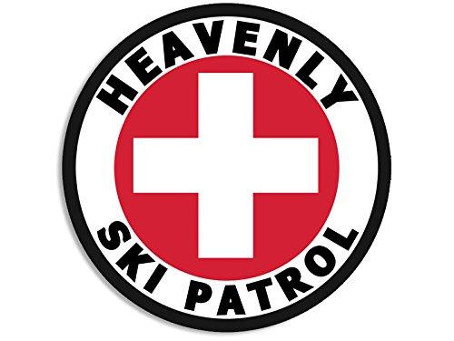 Round HEAVENLY SKI PATROL Sticker (ca nv nevada - Heavenly Ca