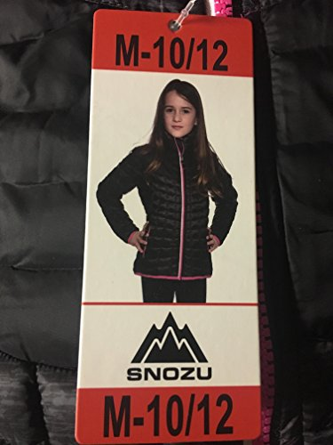 - Snozu Girls' Glacier Shield Quilted Jacket (M, Black)