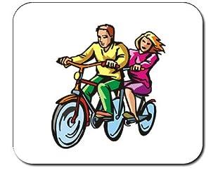 Mauspad mit der Grafik: Zyklus, Sitze, Lifestyle, gesund, physischen, Tandem,...