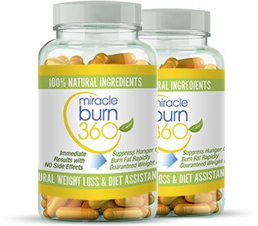 Fast Acting Weight Loss Pills. Natural Appetite Suppressant & Fat Burner Supplement to get Slim Fast - Lose Weight or 100% Money Back Guaranteed (2 Bottle - 60 Diet Pills) - Miracle Burn 360