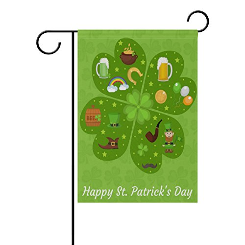 ALAZA Happy St Patricks Day Garden Flag Decorative Flag for
