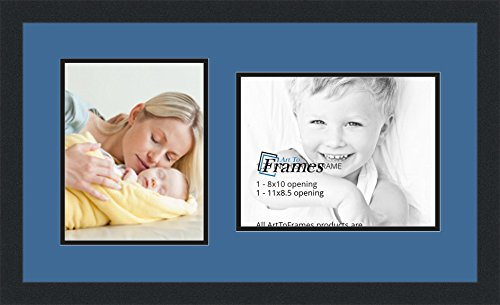 ArtToFrames Collage Photo Frame Double Mat with 1 - 8.5x1...