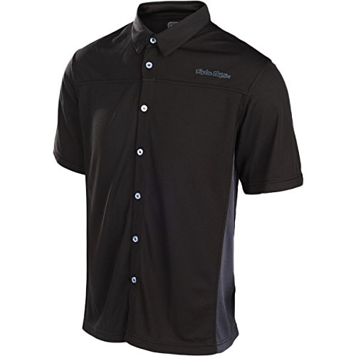 [Troy Lee Designs Mens Compound Button Up Short-Sleeve Shirt Large Black] (Troy Lee Designs Pit Shirt)