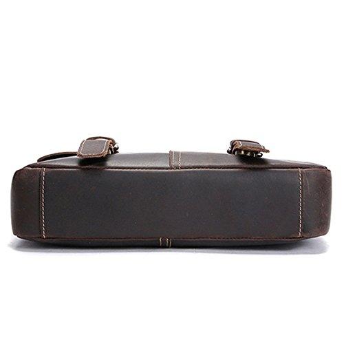 Business Notebook Shoulder Bag Vintage Qi Leather Satchel Suitable Business Casual Men's For Briefcase 4wR8SqARB