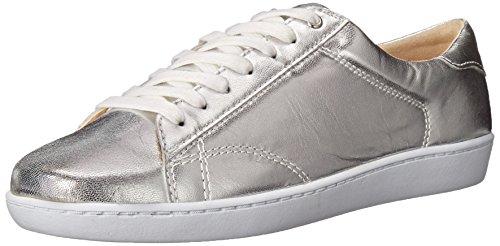 Nine West Women's Rukkus Metallic Fashion Sneaker, Silver, 7 M US