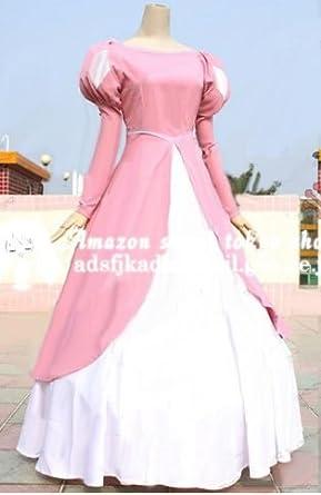 高品質コスプレ衣装 リトル・マーメイド☆アリエル(Ariel) ピンクドレス 女性S