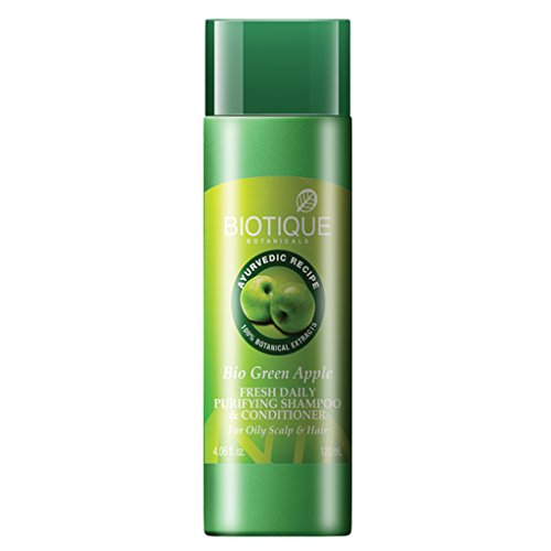 Biotique Green Apple Fresh Daily Purifying Shampoo and Conditioner for Oily Hair and Scalp 120ml