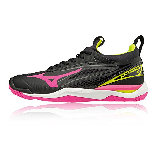 Women's Mirage Court SS18 Shoes Black Mizuno Wave Indoor 2 wBTtCapqx