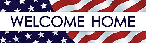 BirthdayExpress Patriotic Party Supplies - Welcome Home Vinyl Banner 18