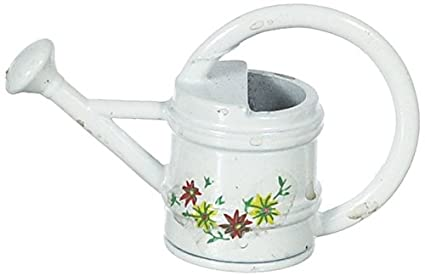 Miniature Dollhouse White Sprinkling Can