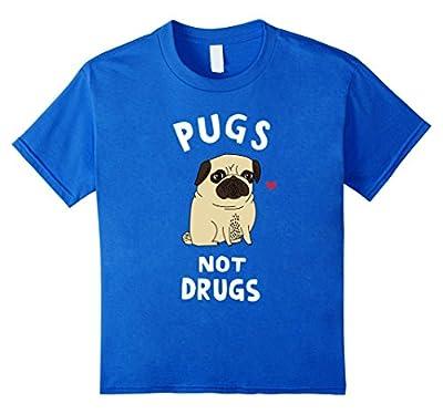 Men Women Young - Pugs Not Drugs Funny T-Shirt