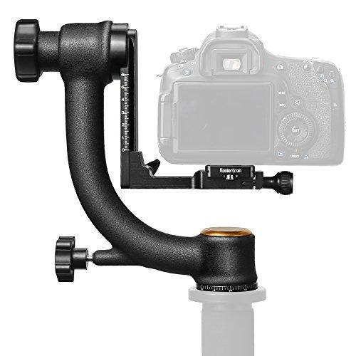 Koolertron Gimbal Tripod Head Bk-45 Specialized 1/4'' Screw for Heavy Telephoto Lens Camera by Koolertron