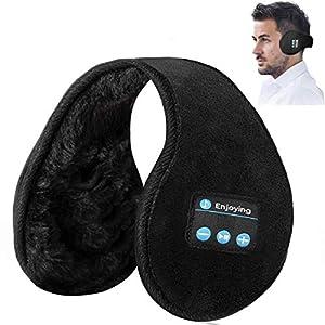 Ear Muffs Bluetooth Headphones Ear Wamer,Lavince Unisex Foldable Ear Warmers Bluetooth V5.0 Wireless Music Earmuffs Headsets with Microphone ear muffs for Winter Outdoor Men Women,Black