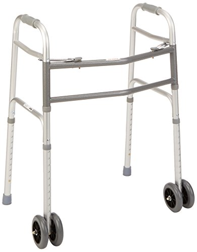 """Days Bariatric Adjustable Walker with Double 5"""" Wheels fo..."""
