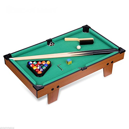 [Sports Indoor Game Mini Table Top Pool Table Game 24'' Billiard Table Set Gift] (Costumes Halloween Yahoo)