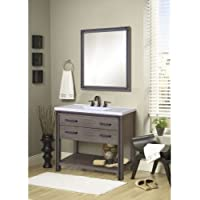 Miseno MVUMS48COM Urban Metallo 48 Vanity Set with Vanity Cabinet, Vanity Top a, Rustic Cocoa