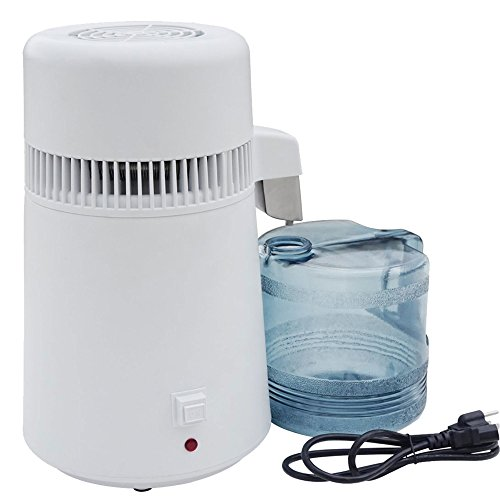 Mophorn Pure Water Distiller 4L Countertop Water Distiller 750W Stainless Screw up one's courage to the sticking point Water Distillation Purifier