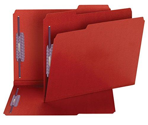 (Smead Pressboard Fastener File Folder with SafeSHIELD Fasteners, 2 Fasteners, 1/3-Cut Tab, 2