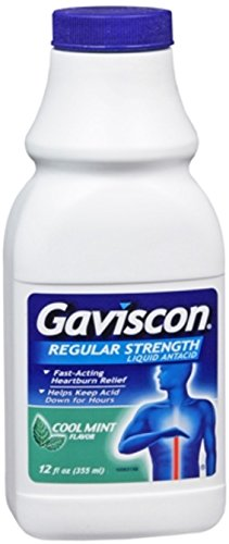 Liquid Gaviscon - Gaviscon Liquid Regular Strength Cool Mint Flavor 12 oz (Pack of 5)