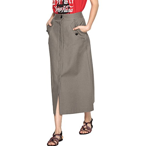 La Redoute Collections Womens Long Buttoned Skirt Green Size US 6 ()