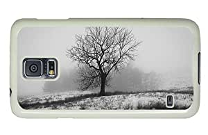 Diy Samsung S5 waterproof cover England winter nature snow tree fog PC White for Samsung S5,Samsung Galaxy S5,Samsung i9600