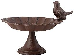 Esschert Design FB164 Cast Iron Pedestal Birdbath, Small