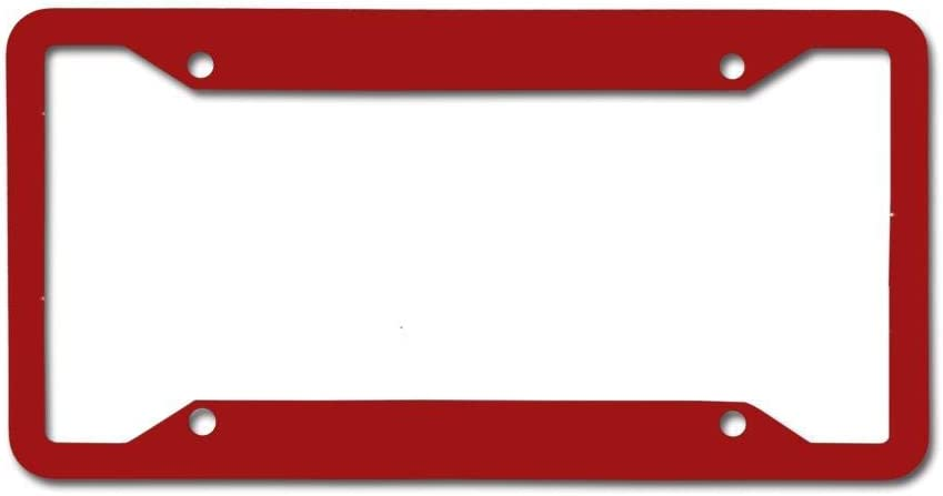 Novel and Popular Car Accessories Metal License Plate Frame RSKKEYSEU Universal License Plate Holder Bracket 12 x 6