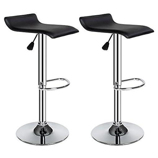 TecTake-Juego-de-2-taburetes-de-bar-taburete-giratorio-diseo-barra-set-cocina-negro