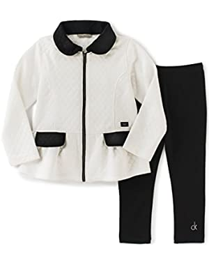 Baby Girls' Double Knit Jacket with Leggings Set