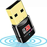 USBNOVEL USB WiFi Adapter-Dual Band 2.4G/5G WiFi Dongle 802.11 ac Mini Wireless Network Card 600Mbps with High Gain…