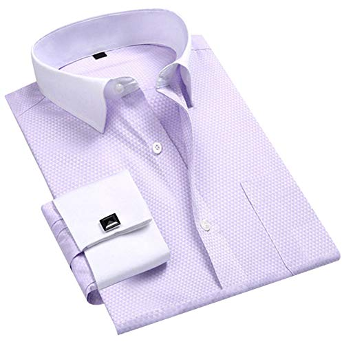 - Cloudstyle Men's Dress Shirt Slim Fit Button Down Stripe Checked Shirt