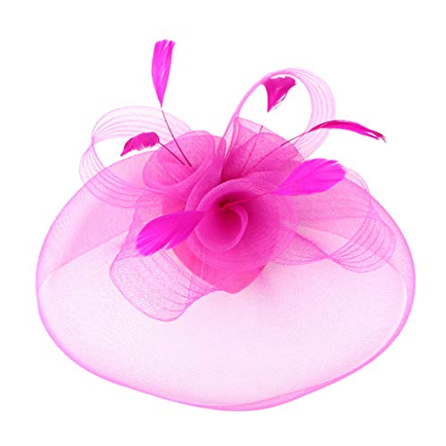 YESWOMAN Fascinate Hats for Women Hat Headband and a Forked Clip Tea Party Headwear Braided Handmade Top