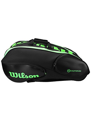 Wilson Blade Collection Racket Bag (15 Pack), Black/Green by Wilson (Image #1)