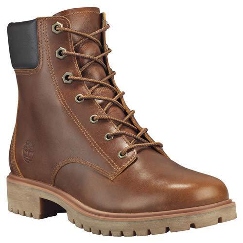 """Timberland Women's Jayne 6"""" Waterproof Boot Medium Brown Full Grain 9.5 B US B (M)"""