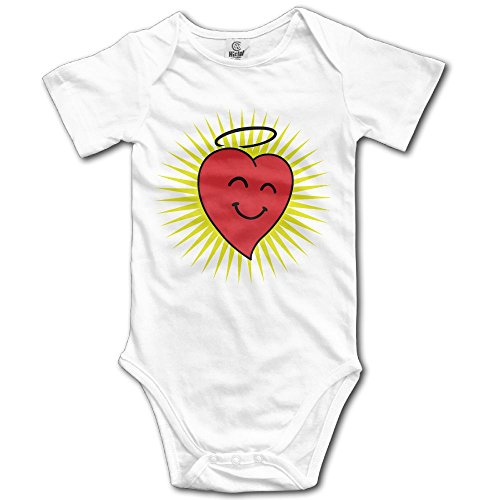 Happy Heart In Shine 3c Juloliang Double Dry Performance Unisex Baby Cute Short Sleeve Onesies Bodysuits Romper Outfits 0-24 Months White Ridiculous Baby Outfits