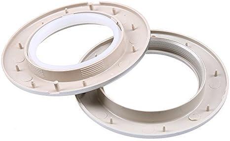 confezione da 32 pezzi diametro esterno 7,1/cm Bright Gold rotondi Anelli per tenda con occhielli di plastica WCIC