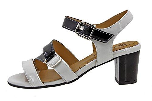 Chaussure femme confort en cuir Piesanto 8496 sandale confortables amples Blanc