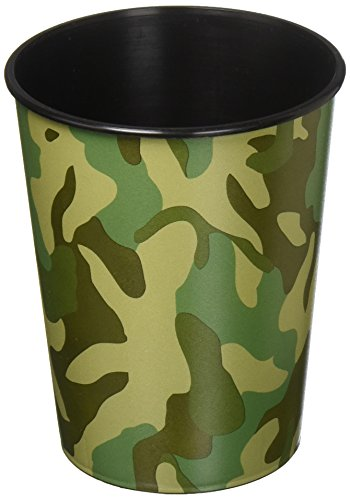 amscan Camouflage Plastic Party Cup, Party Favor, 12 Ct.