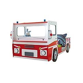 Bett Feuerwehr inkl. Rollrost 90 * 200 rot weiß