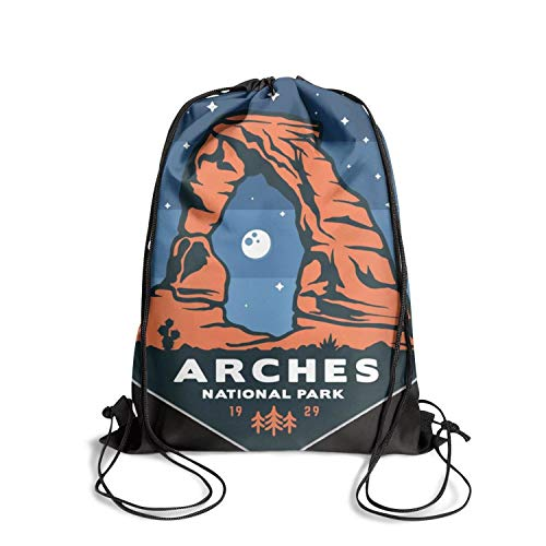 Arches National Park Unisex Drawstring Bag Thick Waterproof Waterproof Sports Sports Backpack