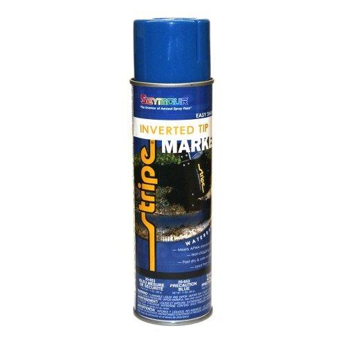 (Seymour Brand Utility Marking Paint Precaution Blue Inverted Tip)