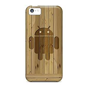 Hot Wood Droid First Grade Tpu Phone Case For Iphone 5c Case Cover