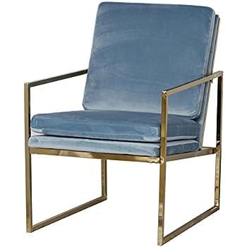 Amazon Com Mr Do Velvet Armchair Light Blue Single Lounge