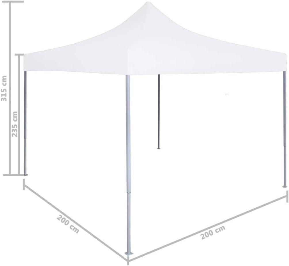 Tidyard Tente de R/éception Pliable//Tente de Mariages Professionnelle 2x2 m en Acier Blanc